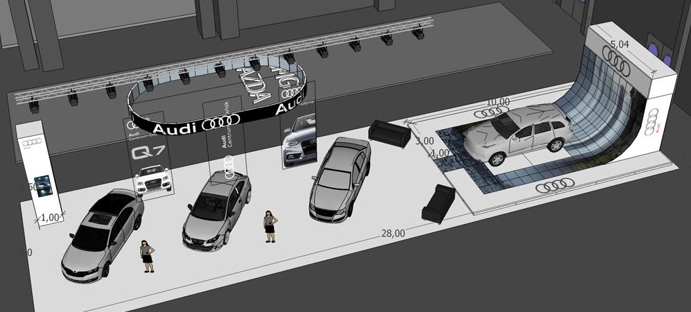 Projekt i budowa stoiska motoryzacyjnego na targach