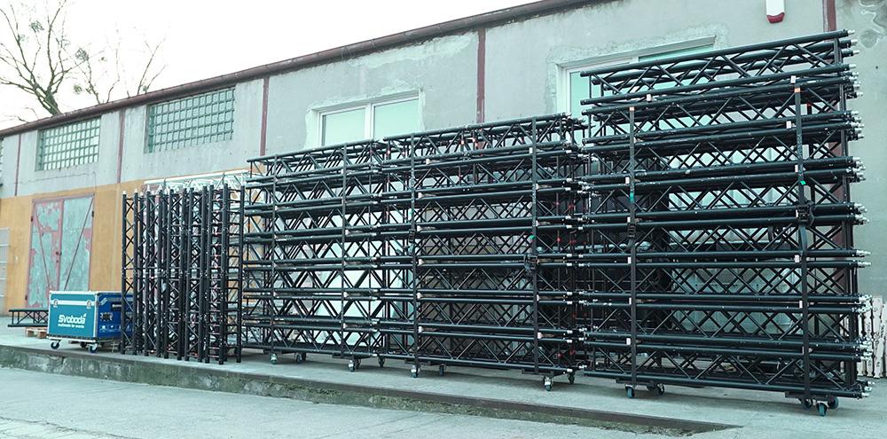 konstrukcje sceniczne wynajem black truss