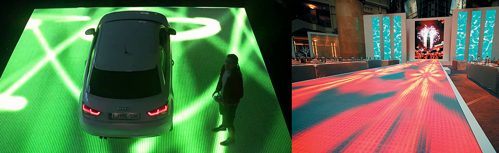 Podłoga LED na wynajem