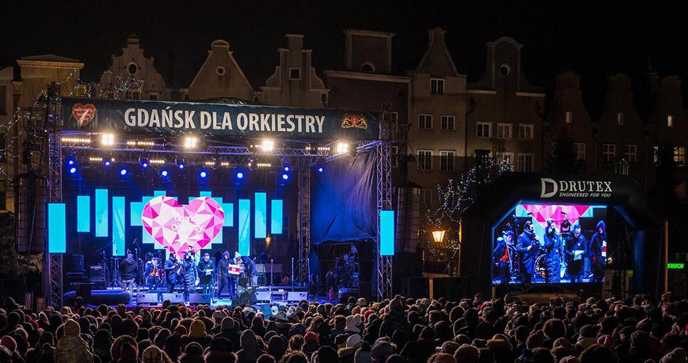 scenografia LED na koncertach WOSP