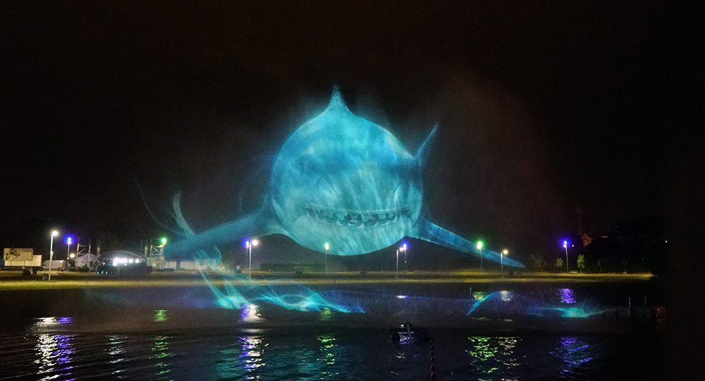 show holograficzne na wodzie