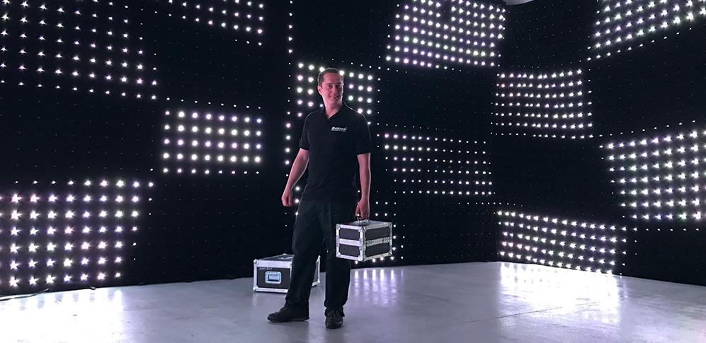 video kurtyna LED, soft led, kurtyna video